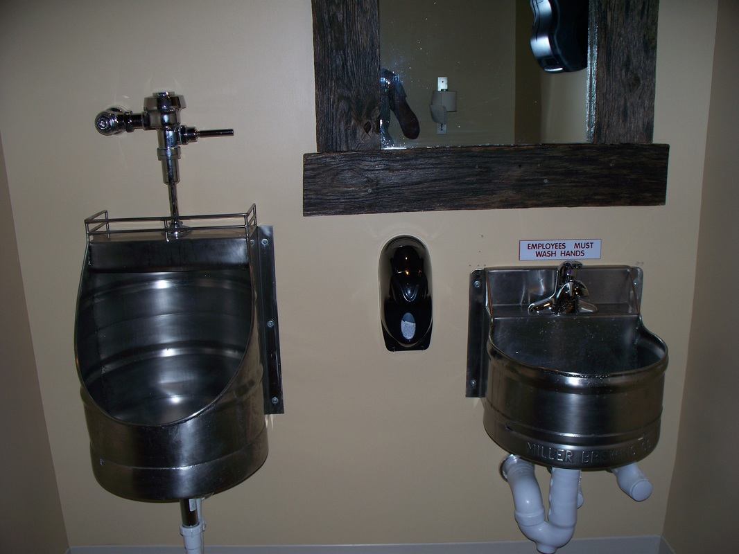 Yes This Is The Real Deal... A Real Beer Keg, That The Owner Wanted Made  Into A Urinal And Hand Sink. It Now Resides In A Local Hot Spot In Downtown  ...
